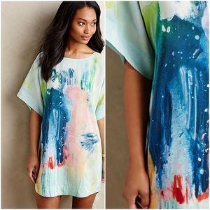 MAEVE RARE Painted Silk Tunic Dress